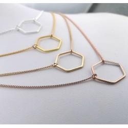 Hexagon-Schmuck-Halskette_roségold-gold-silber