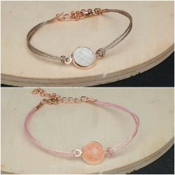Cabochon Schmuck Armbänder rosegold