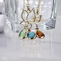 Vergoldete Lotus-Halskette