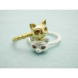 Katzen Ringe silber oder...