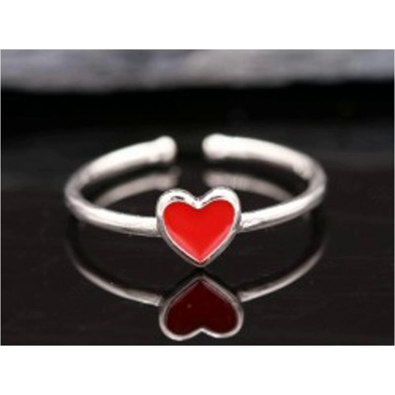 """Ring mit Herz """"Liebe"""" aus Silber"""