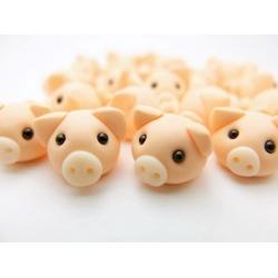 Schweinchen Ring aus Fimo verstellber